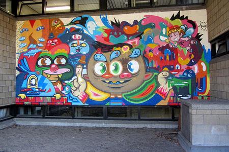 Street art by Blue the Warrior