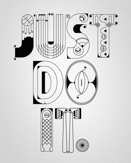 NIKE x Type illustrations