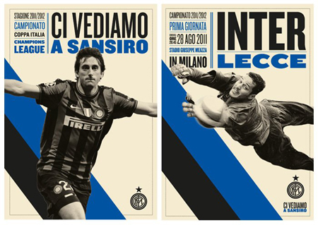 Graphic design for the Inter Milan