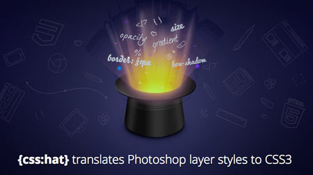 CSS Hat: translates your Photoshop layer styles in CSS3