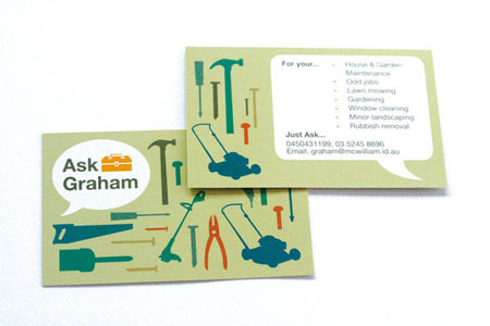 card example of post for business