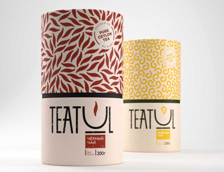 Concept tea packaging by Katerina Teterkina
