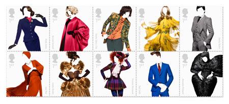 Great british fashion stamps
