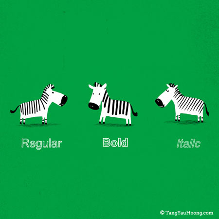 Regular, bold, italic