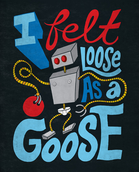Loose a goose illustration
