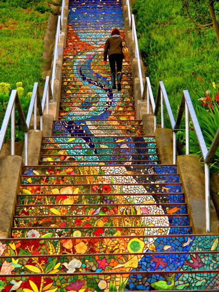 163 Tiled Steps in San Francisco