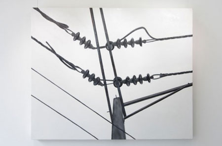 An artistic view of electric power wires