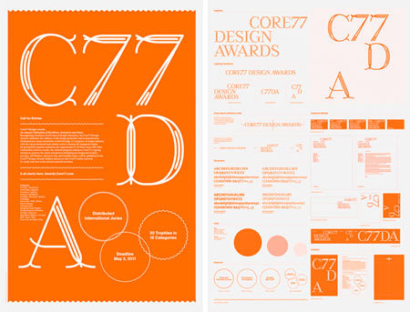 Typographical design work from Studio Lin