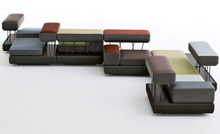 Modular seating system by Osko+Deichmann