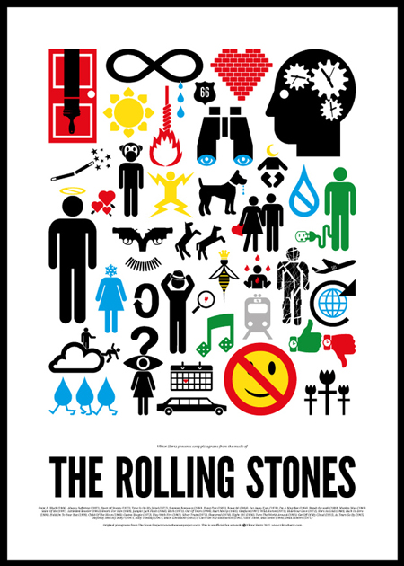 Pictogram rock bands posters