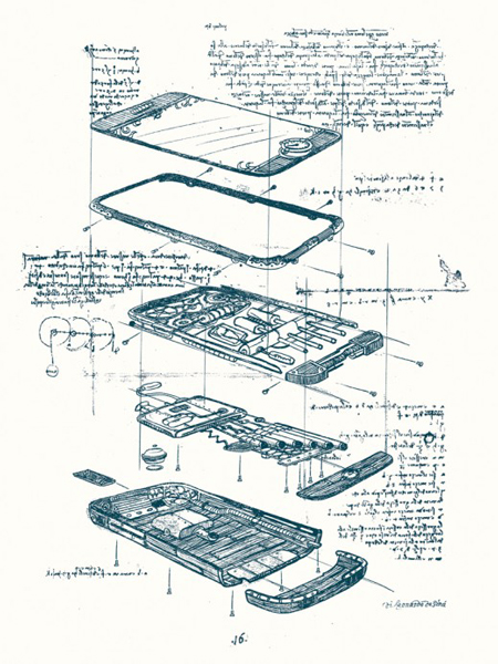 Da Vinci iPhone sketches