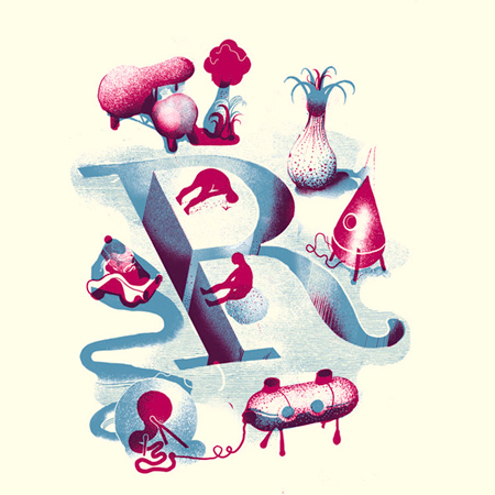 Illuminated alphabet by Icinori