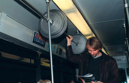 Fitness ambiant advertising
