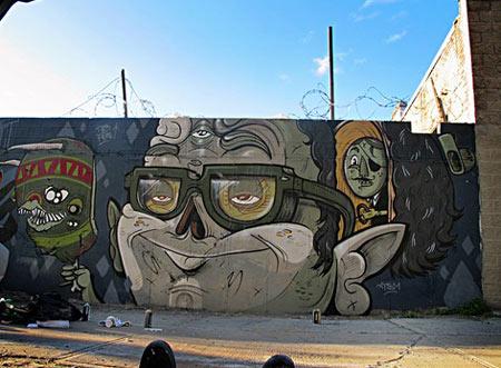 Street art by the Yok