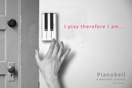 Pianobell doorbell concept