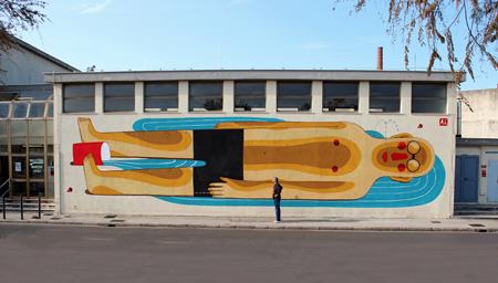 Street art by Agostino Iacurci