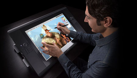 Cintiq tablet by Wacom