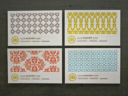 Beautifully Patterned Business Cards