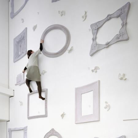 Frame climbing wall
