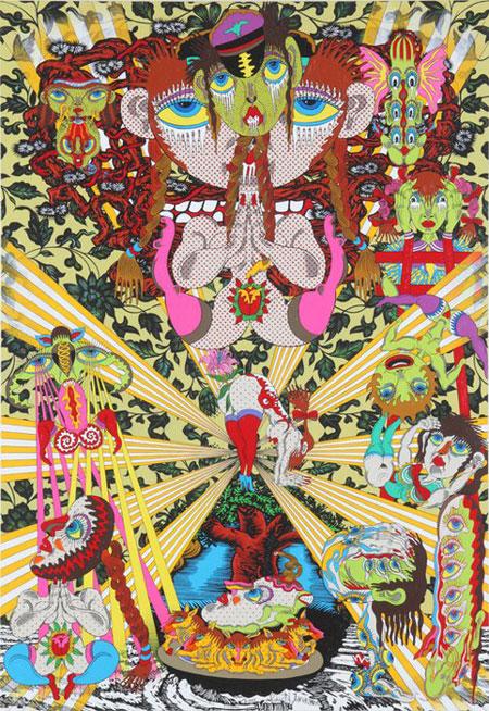 Psychedelic art by Keiichi Tanaami