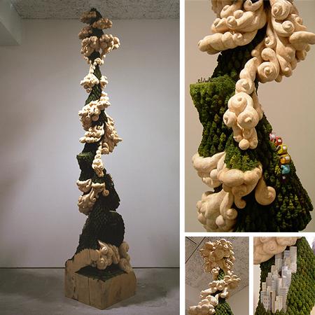 Miniature wood landscapes by Keisuke Tanaka