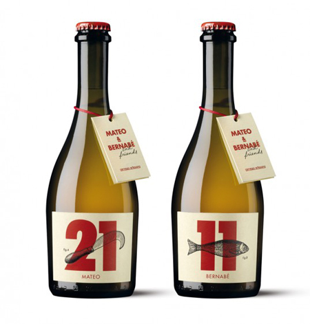 Mateo & Barnabe beer labels