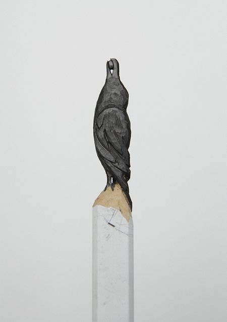 Sculptures in graphite pencil tips