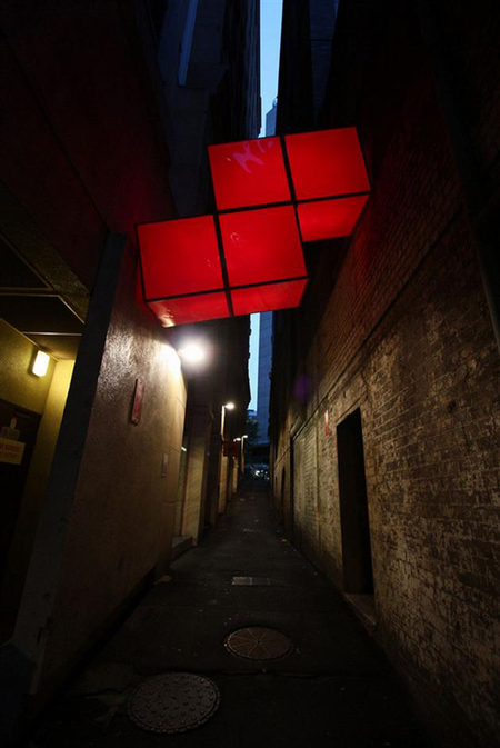 Tetris blocks by Gaffa gallery in Sydney