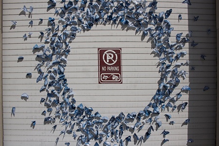 Butterfly installations by Tasha Lewis