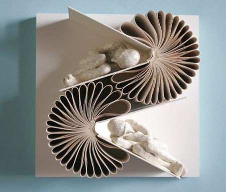 Book sculptures by Daniel Lai
