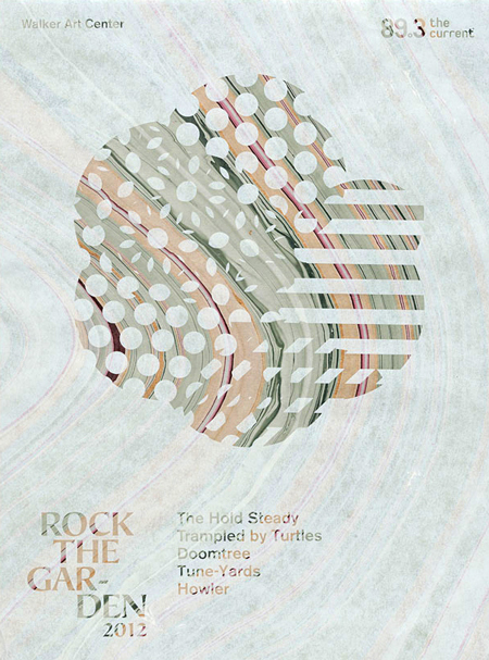 Rock the Garden 2012 graphic identity