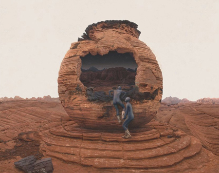 Surreal mars photographs by kahnselesnick