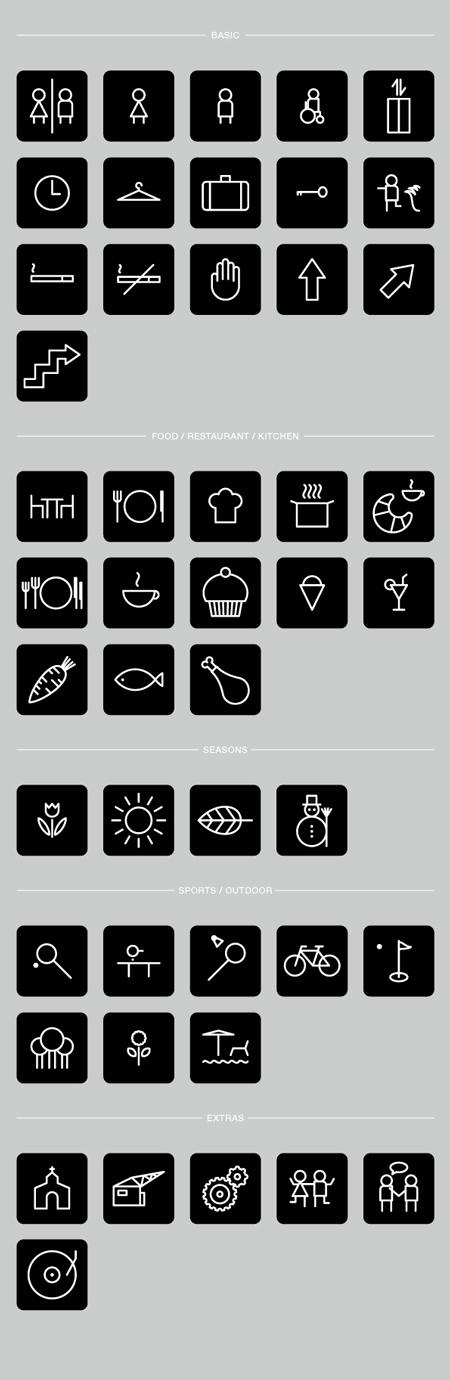 Hotel pictograms by Robert Karpati