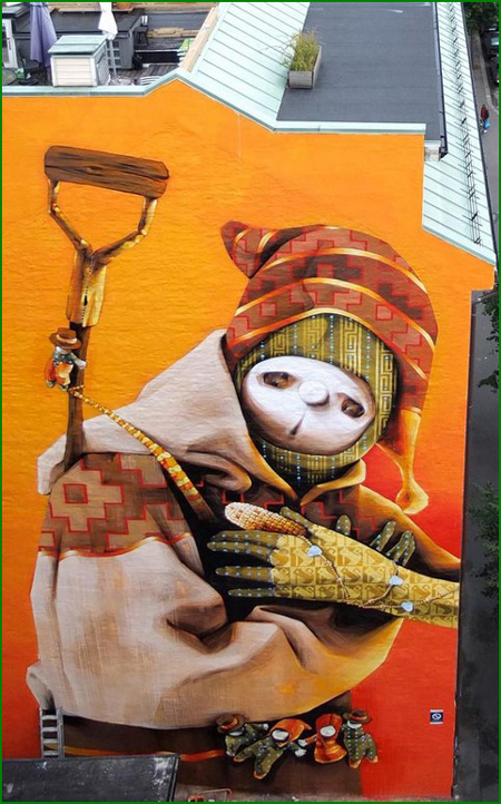 Street art by INTI