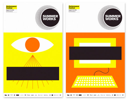 SummerWorks 2012 visual identity by Monnet Design