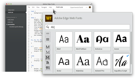 Adobe launches its web fonts service: Adobe Edge Web Fonts