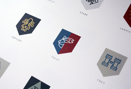 Game of Thrones crests redesign