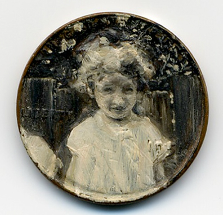 Oil paintings on coins by Jacqueline Lou Skaggs