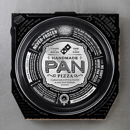 Domino's handmade pizza box design