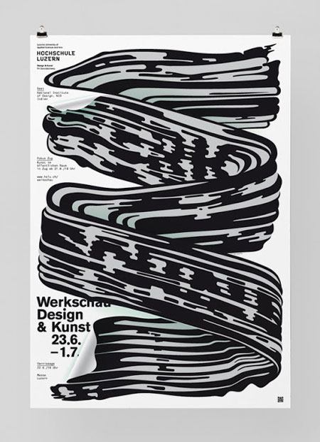 Poster for the Werkschau of the Lucerne university of design and art