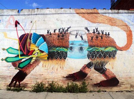 Street art by El Curiot