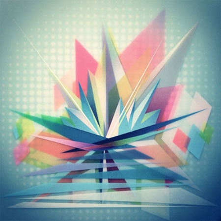 Layered geometric artwork by Francesco Locastro