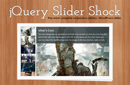 Giveaway: 5 premium licenses of jQuery Slider Shock