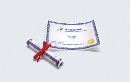 Schoolarship business card
