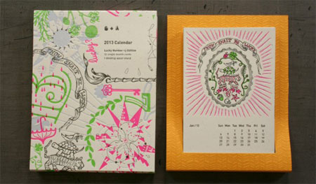 2013 Studio On Fire letterpress calendar