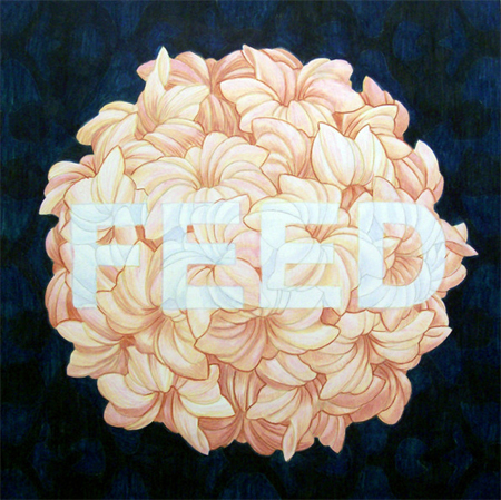 Typographic paintings by Terrence Paine