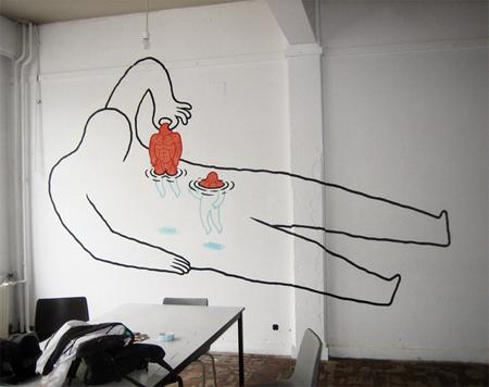 Murals by Daan Botlek