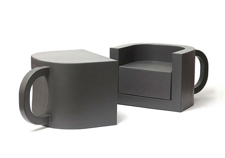 Flip coffeecup chair