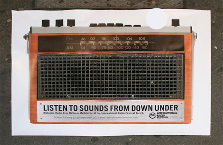 International radio festival ambient posters