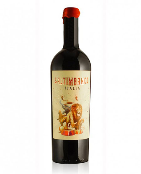 Saltimbanco wine packaging